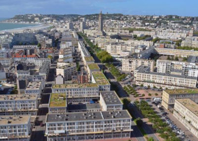 Le Havre seen from the sky