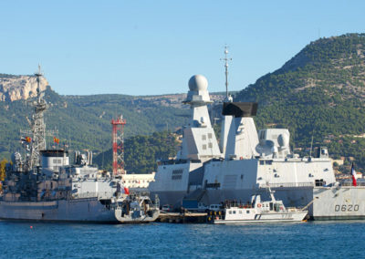 Military harbour Toulon bay