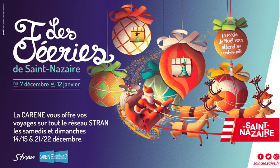 Christmas Greet in Saint-Nazaire City
