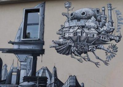 Street Art sur le cinema lux a Caen - ©Caen_la_mer_Tourisme_Alix_JONET