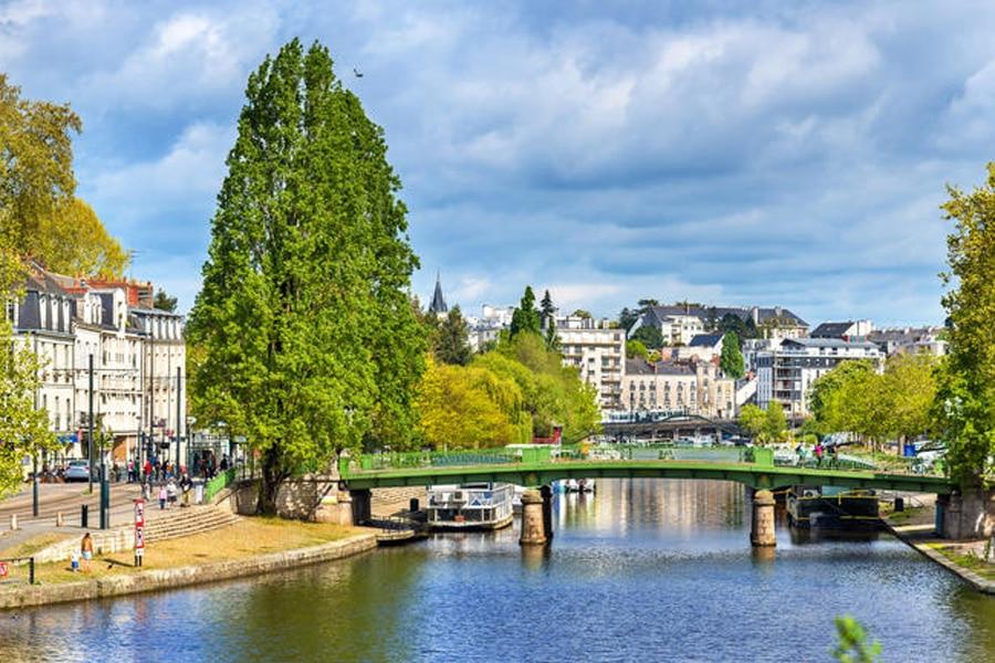La rivière Erdre à Nantes