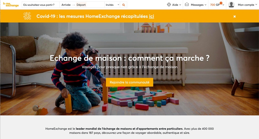 Zoom sur HomeExchange