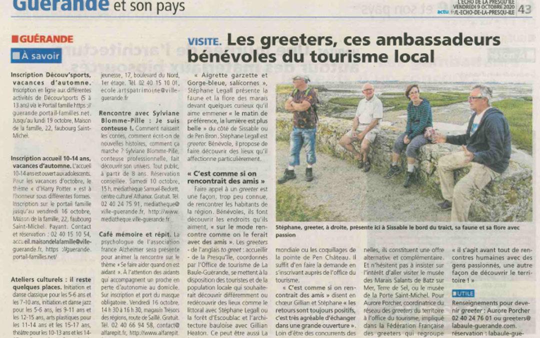 Greeters dans la presse: L'écho de la Presqu'île de Guérande