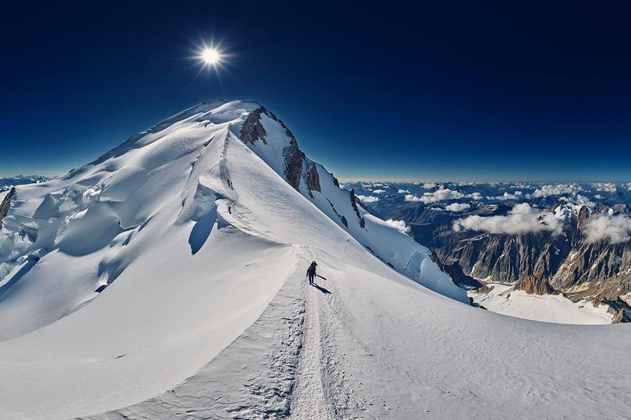 En chemin vers le Mont-Blanc
