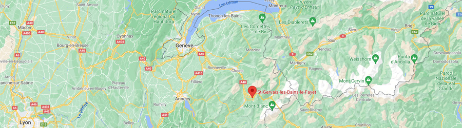 Carte routiere Saint Gervais